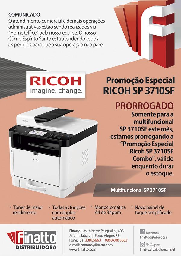 Promoção Especial RICOH SP 3710SF