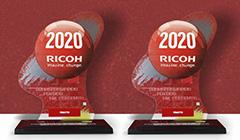 Premiação especial  RICOH pelos resultados  no FY2018 - Distribuidor com maior número  de equipamentos comercializados